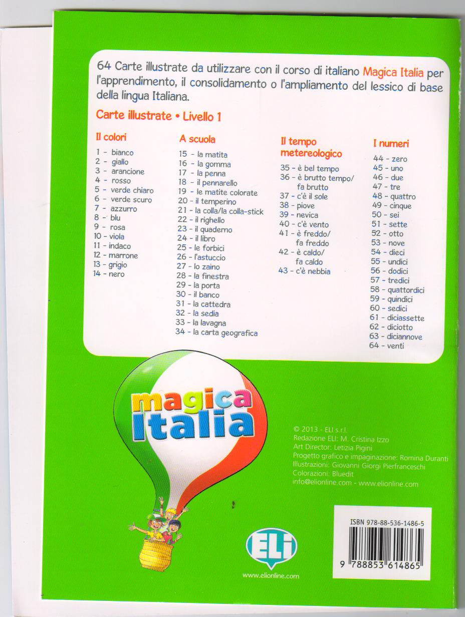 Magica Italia 1 - Carte illustrate